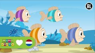 Kijk Vier kleine visjes filmpje