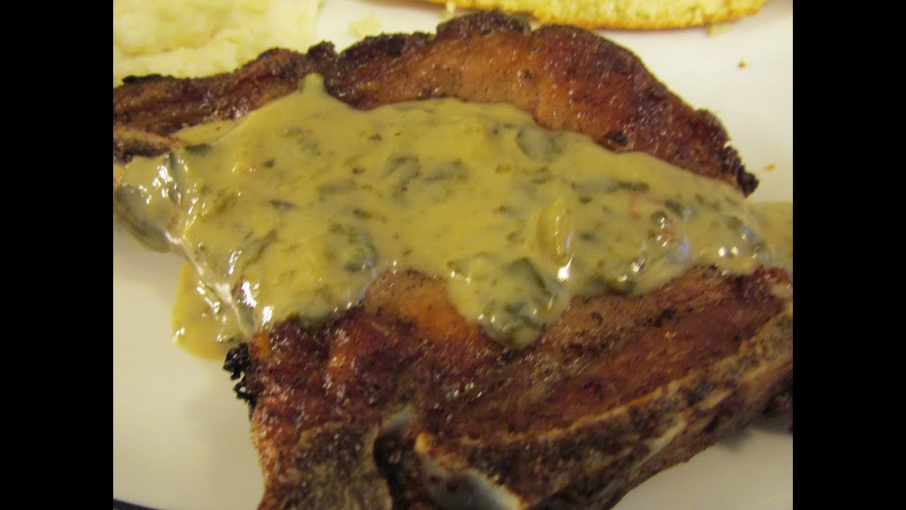 how to make gravy from fried pork chops