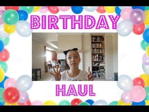 Birthday Haul