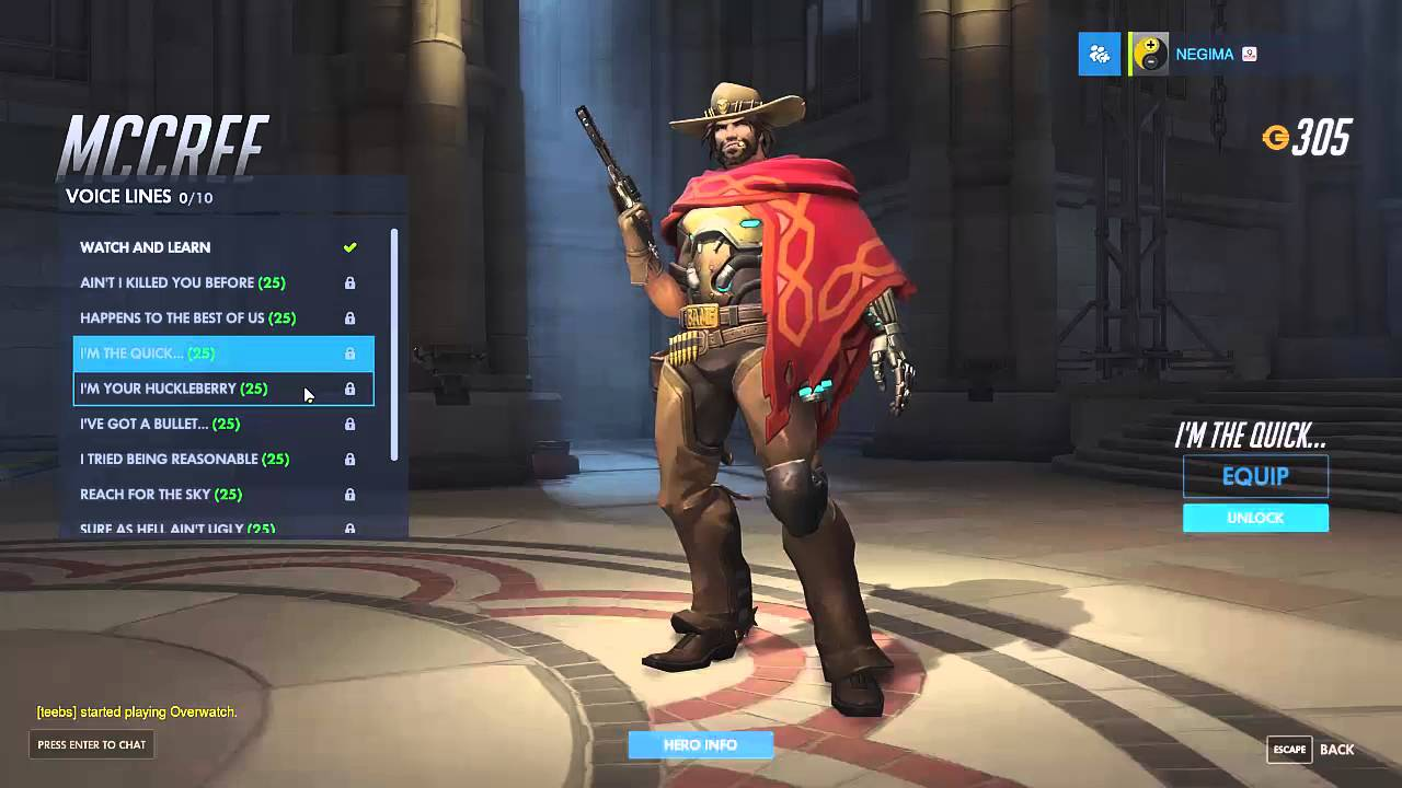 During McCree's Ultimate, The Ingame Clock (if enabled ...