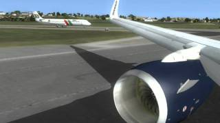 [HD] Flight Simulator X - Ariane 737 - 800 RYR Aerosoft Lisbon to Stockholm - Core i7 @ 4.2 Ghz