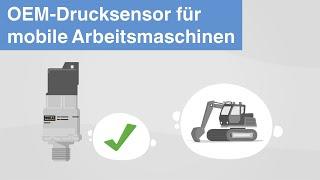 OEM-Drucksensor für mobile Arbeitsmaschinen   Typ MH-4