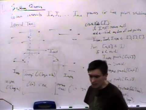 Computational Geometry Lecture 19: Interval, segment and priority search trees