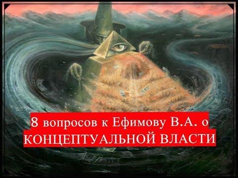 8 вопросов к Ефимову В.А. о концептуальной власти