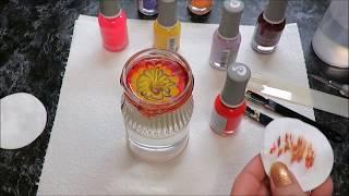 🌸водный маникюр 🌸 Aliexpress Страна чудес🌸 Nail Art