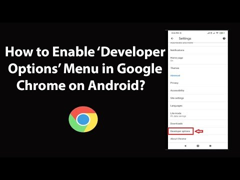 How To Enable Developer Options Menu In Google Chrome On Android?