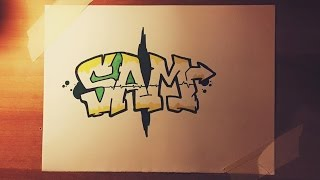 How to Draw SAM in Graffiti Letters