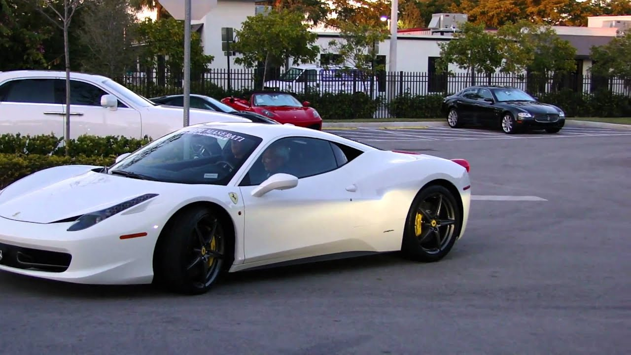 White Ferrari 458 Italia 2 - YouTube