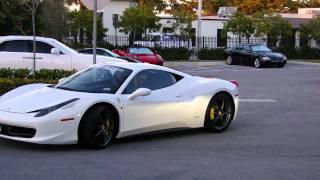 White Ferrari 458 Italia 2