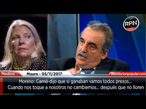 Moreno le responde a Carrió: 'Cuando esto pegue la vuelta, no lloren'