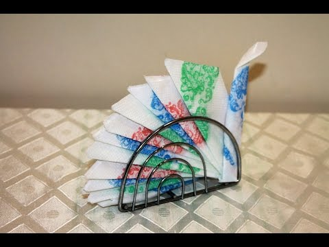 Бумажные салфетки в виде птицы счастья в салфетнице!