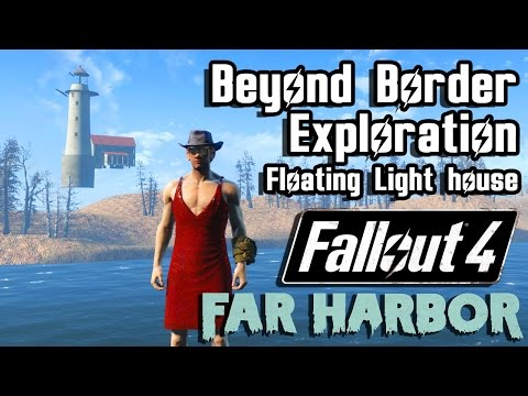 Fallout 4 Far Harbor | Outside Accessible Map Exploration | Beyond Far Harbor Secretive Border #1