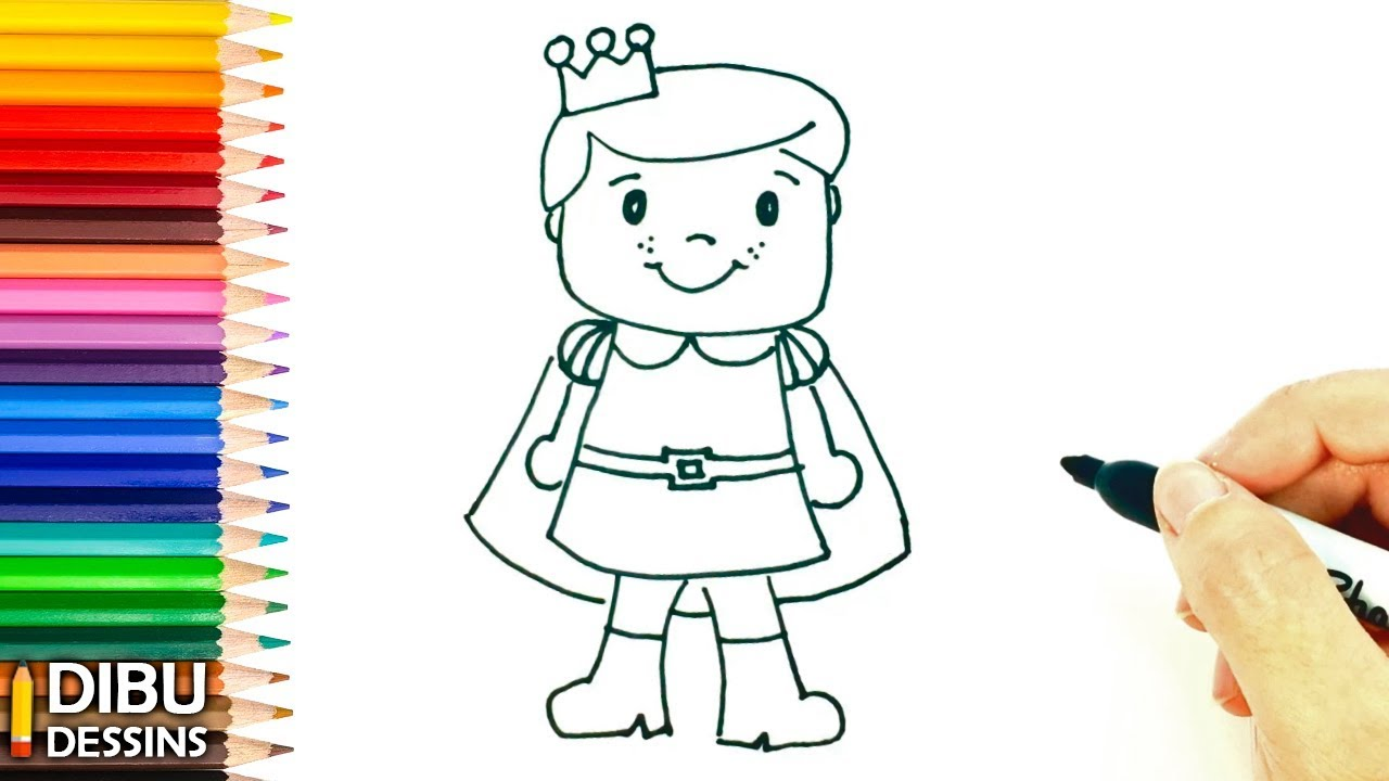 Comment Dessiner Un Prince Dessin De Prince Très Facile