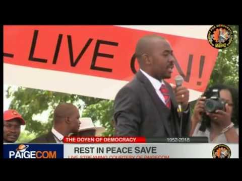 Nelson Chamisa Speech at Tsvangirai Freedom Square Send Off