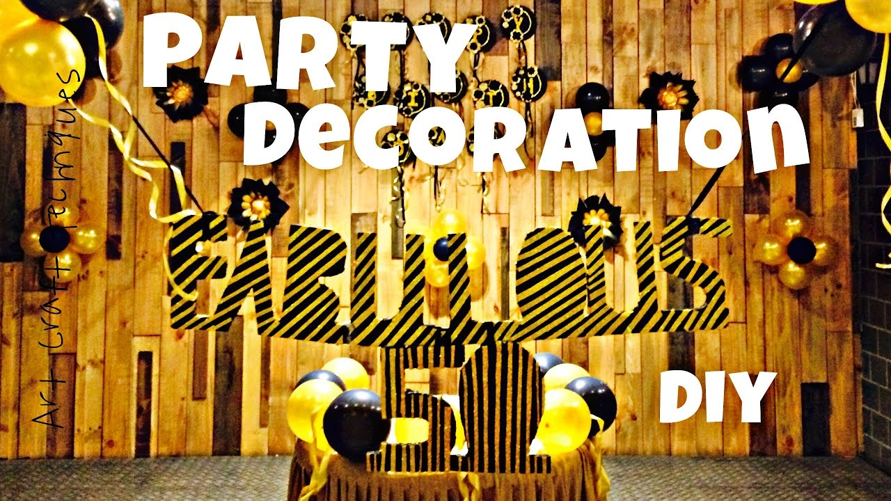 High Quality Birthday Decoration Ideas At Home Easy Quick And Simple DIY| Budget Friendly