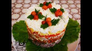 ПРАЗДНИЧНЫЙ салат с МЯСОМ и ОПЯТАМИ рецепт салата Салат на ПРАЗДНИЧНЫЙ стол