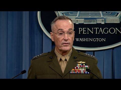 Gen. Dunford holds news conference on military operations, attack in Niger