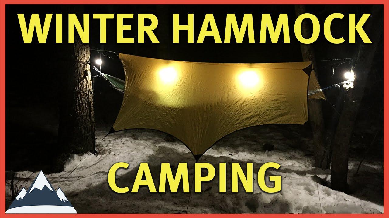 Winter Hammock Camping - The Amateur Setup - YouTube