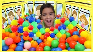 Ball Pit in my School Bus Tent BY SAM AND ABBY