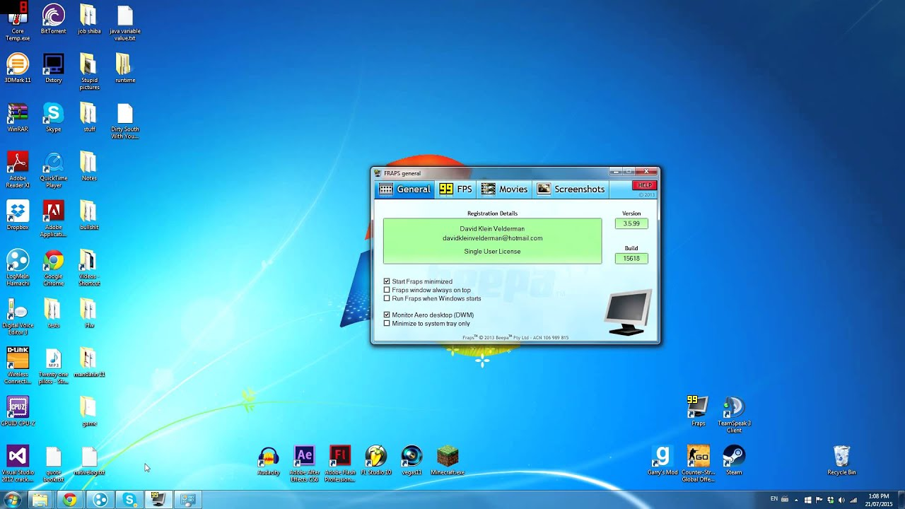 How To Record Desktop With Fraps 2015 Black Screen Fix Crack Download Windows 7