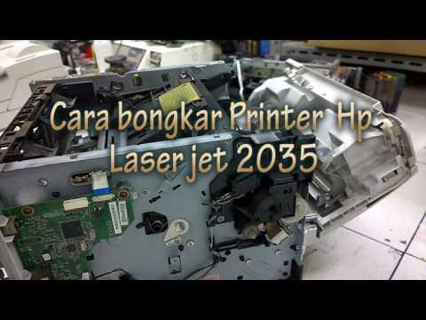 How to disassembly HP LaserJet P2035n Printer / Cara Membongkar Printer HP Laser Jet 2035n
