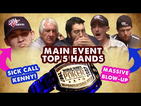 2007 WSOP Main Event - Top 5 Hands | World Series Of Poker