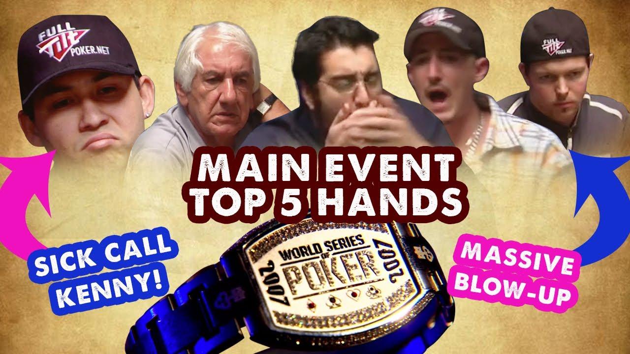 2007 WSOP Main Event - Top 5 Hands | World Series of Poker