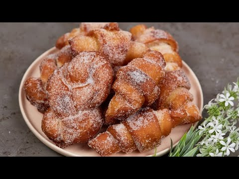 Fried croissants a delicious recipe ready in a few steps