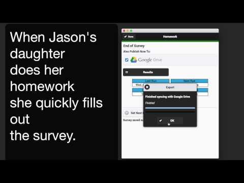 Kaizen Surveys - Homework Tracking Example