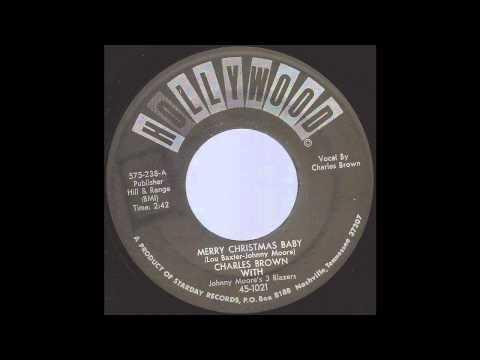 Charles Brown  Merry Christmas Ba  50s Xmas Blues R&B on Hollywood label