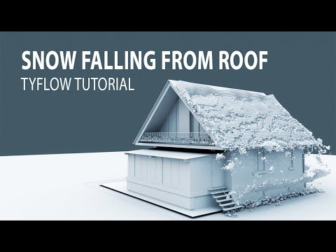3D TUTORIAL - SNOW FALLING FROM ROOF