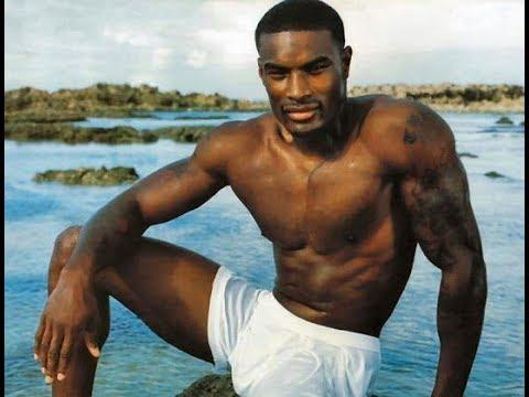 Black man shirtless