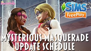 The Sims Freeplay Mysterious Masquerade Update Schedule! [Oct/Nov 2021] screenshot 4