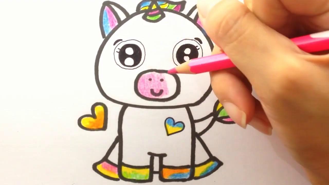 belajar menggambar dan mewarna unicorn untuk anak  youtube