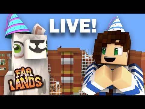1 Year Birthday Party!  | Far Lands Minecraft - LIVE NOW