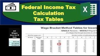 Federal Income Tax FIT - Payroll Tax Calculation