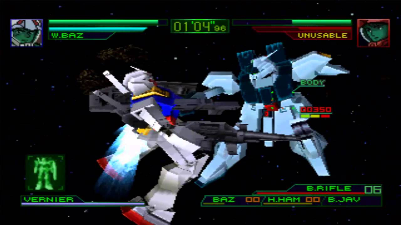 Ps1 Mobile Suit Gundam Char S Counter Attack Gameplay Youtube