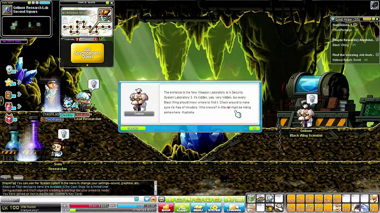 maplestory wild hunter th job advancement