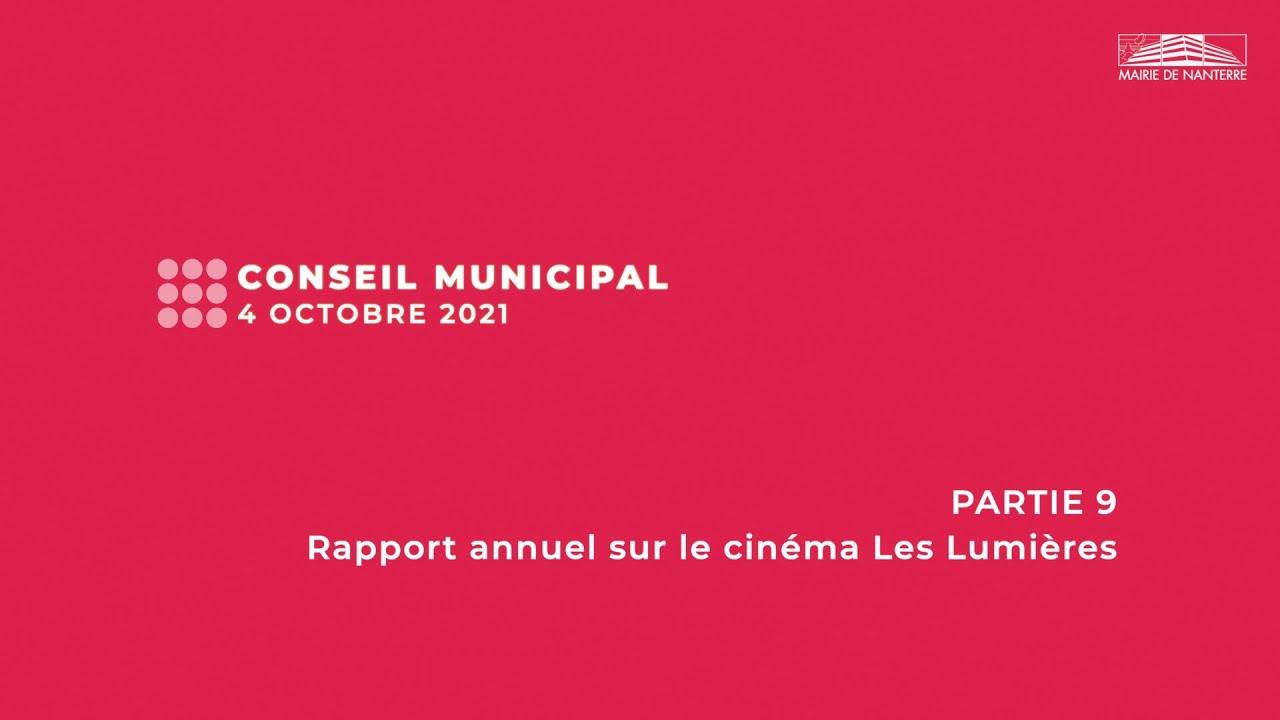 Conseil municipal du 4 octobre 2021 - PARTIE 9