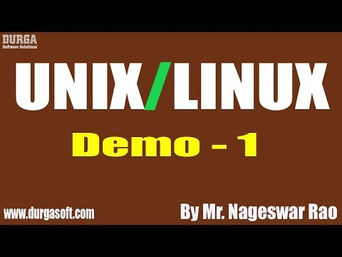 UNIX/LINUX Tutorial || Demo - 1 || By Mr. Nageswar Rao On 30-03-2020 @7:30PM