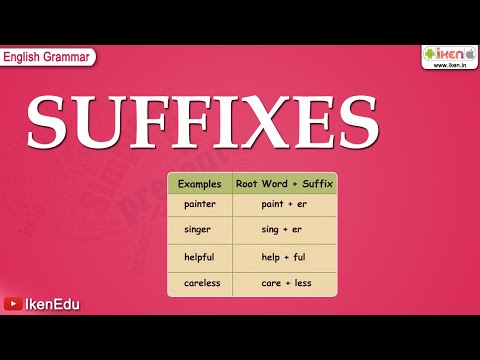 English Grammar - Learn About Suffixes