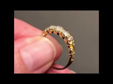 antique-victorian-five-stone-diamond-ring-in-18-carat-gold