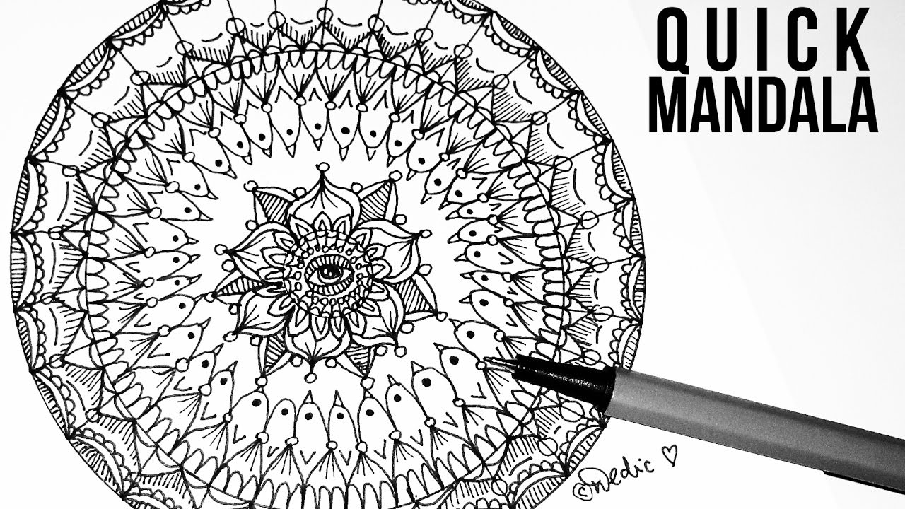 Scribble Drawing In Art Therapy : Quick mandala doodle art doodling zetangle