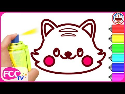 Baby Learn How To Draw Cat Dog Pets Coloring Pages For Kids Drawing Children Learning Co