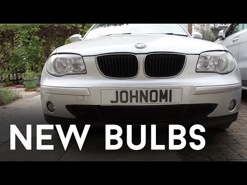 Cars: Fitting New LED and Chrome Bulbs - BMW 1 Series (E87)