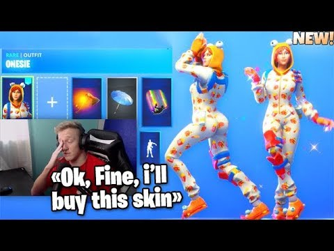 Tfue Finally Bought A New Fortnite Thicc Skin Onesie Tfue Buy