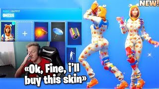 Tfue FINALLY Bought a New Fortnite THICC Skin ONESIE... (TFUE BUY SKIN)