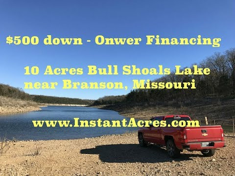 Former Bison Ranch On Bull Shoals Lake! $500 Down - Stunning Property!