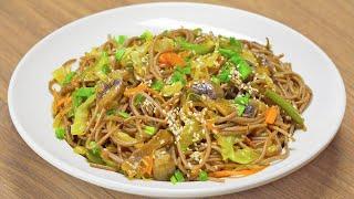 Гречневая лапша с овощами. Рецепт от Всегда Вкусно!