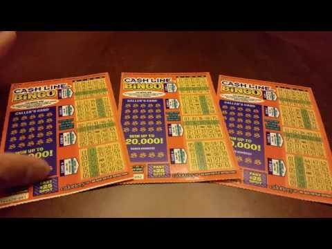 New $3 Cash Line Bingo Scratchers - California Lottery At It's Finest!